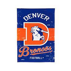 NFL Vintage Linen Garden Flag - Broncos