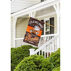 NFL Vintage Linen House Flag - Browns