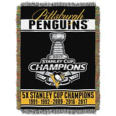 NHL 2017 Stanley Cup Champions Woven Tapestry - Penguin