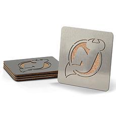 NHL Boasters 4-piece Coaster Set - New Jersey Devils