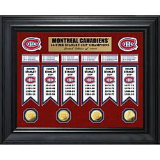 NHL Canadiens 24-Time Stanley Cup Champs Deluxe Banner