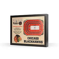NHL Chicago Blackhawks 25-Layer 3-D Wall Art - United Center
