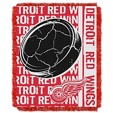 NHL Double Play Woven Throw - Detroit Red Wings