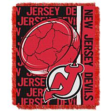 NHL Double Play Woven Throw - New Jersey Devils