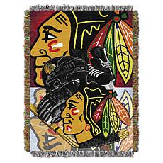 NHL Home Ice Advantage Tapestry Throw - Blackhawks