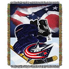 NHL Home Ice Advantage Tapestry Throw - Blue Jackets