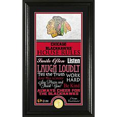 NHL House Rules Supreme Bronze Coin Photo Mint - Chicago Blackhawks