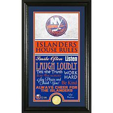 NHL House Rules Supreme Bronze Coin Photo Mint - New York Islanders