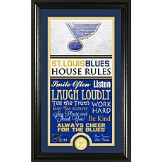 NHL House Rules Supreme Bronze Coin Photo Mint - St. Louis Blues