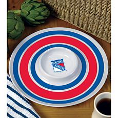 NHL Melamine Chip and Dip Serving Tray - Rangers