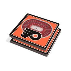 NHL Philadelphia Flyers 3-D Stadium Views Coaster Set