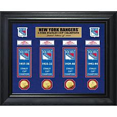NHL Rangers 4-Time Stanley Cup Champs Deluxe Banner