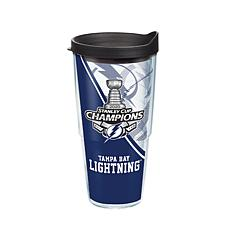 NHL Tampa Bay Lightning 2020 Stanley Cup Champions 24 oz Tumbler wi...