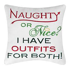 Nice Outfits Embroidered Pillow