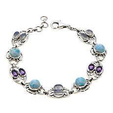 Nicky Butler 1.60ctw Larimar and Multigemstone Link Bracelet