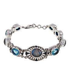 Nicky Butler 24.70ctw Faceted Labradorite and Gemstone Bracelet