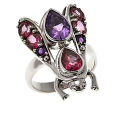 "Nicky Butler 2.80ctw Amethyst and Pink Topaz ""Bee"" Ring"