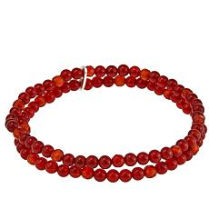 Nicky Butler 4mm Gemstone Bead Double Row Large Stretch Bracelet