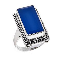 Nicky Butler 6.95ctw Blue Chalcedony Rectangular Ring
