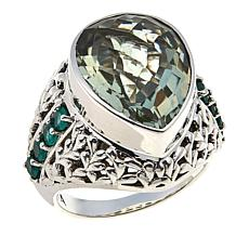 Nicky Butler 7ctw Prasiolite and Green Chalcedony Bold Pear Ring