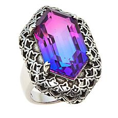 Nicky Butler 9.40ctw Purple/Pink Quartz Triplet Geometric Ring