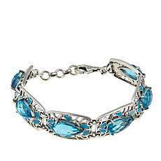 Nicky Butler Aqua Quartz Triplet and Enamel Station Bracelet