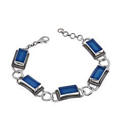 Nicky Butler Blue Chalcedony Rectangular Bracelet
