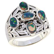 Nicky Butler Ethiopian Opal Leaf-Design Ring