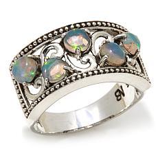 Nicky Butler Ethiopian Opal Sterling Silver Scroll Ring