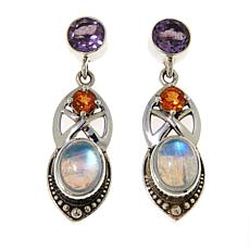 Nicky Butler Moonstone and Multigem Drop Earrings