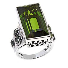 Nicky Butler Olivine Quartz Triplet and Peridot Ring