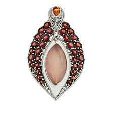 Nicky Butler Pink Chalcedony and Multigemstone Marquise Pendant