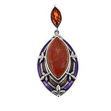 Nicky Butler Sponge Coral and Honey Quartz Pendant