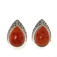 Nicky Butler Sponge Coral Hammered Earrings