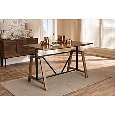 Nico Metal and Wood Adjustable Height Work Table