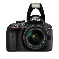 Nikon D3400 24.2MP HD Video DSLR Camera w/18-55mm  Lens & Accessories