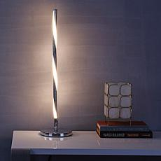 """Nile 23.5"""" LED Integrated Table Lamp Chrome by JONATHAN Y"""
