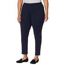 Nina Leonard Bubble Crepe Slim-Leg Pant