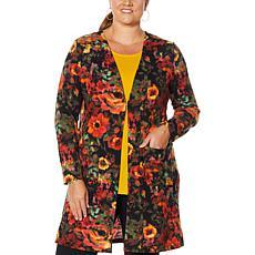 Nina Leonard Dolce Knit Duster Cardigan with Pockets