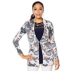 Nina Leonard High-Tech Crepe Jacket