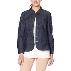 Nina Leonard Lightweight Stretch Denim Jacket