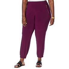 Nina Leonard Miracle Matte Jersey Pull-On Jogger Pant
