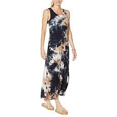 Nina Leonard Sleeveless Maxi Dress with X-Back Detailing