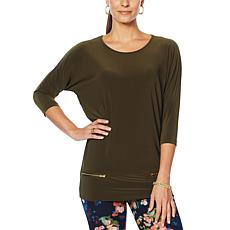 Nina Leonard Tunic with Zippers