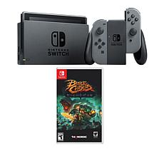 """Nintendo Gray Switch Bundle with """"Battle Chasers: Nightwar"""" Game"""