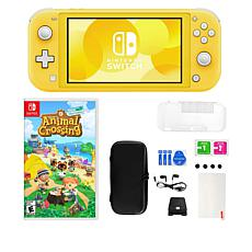 Nintendo Switch Lite with Animal Crossing Game and Accessories