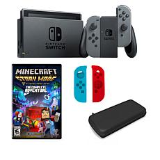 "Nintendo Switch with ""Minecraft Story Mode"" and Accessory Bundle"