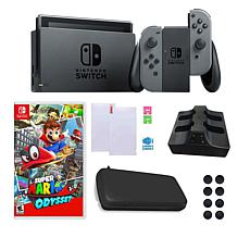 """Nintendo Switch with """"Super Mario Odyssey"""" and Accessory Bundle"""