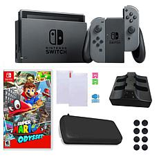"Nintendo Switch with ""Super Mario Odyssey"" and Accessory Bundle"