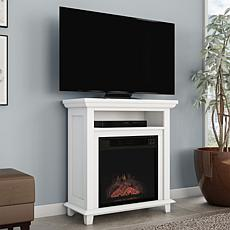 """Northwest 29"""" Electric Fireplace TV Stand - White"""